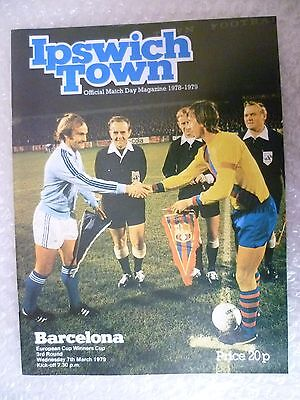 1979 IPSWICH TOWN v BARCELONA, 7th March (European Cup Winner's Cup)