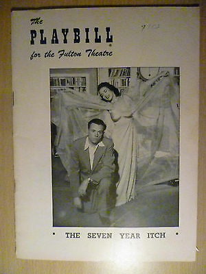 1953 PlayBill Fulton Theatre Programme: THE SEVEN YEAR ITCH, 14 Sept
