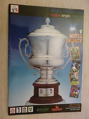 1994 Anglo Italian Cup Final - BRESCIA v NOTTS COUNTY - 20th March