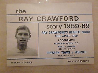 1969 RAY CRAWFORD BENEFIT MATCH - IPSWICH TOWN v WOLVES