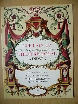 Theatre Royal Windsor 1972- THE HOLLOW by Agatha Christie