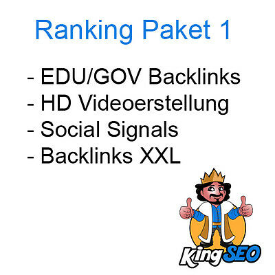 SEO Ranking Paket 1 + Presseartikel + Videoerstellung + EDU-Links | Backlinks