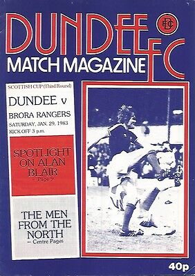 Dundee v Brora Rangers 1982/83 (Scottish Cup Rd 3)