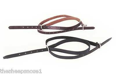 Windsor Equestrian Leather Spur Straps Havana Brown Or Black