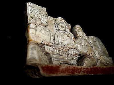 Antique Nativity Wood pre 1900's Hand Carved and Painted Scene As-is