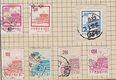 China Stamps With Interesting Taipei Taiwan Stamp From Old Album Wk10 Page 25