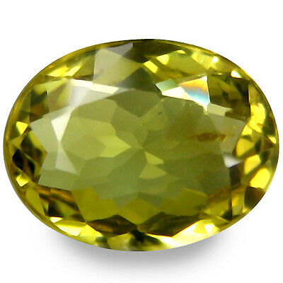 1.340Cts Wonderful Luster Green Yellow Natural Sapphire Oval Gemstones