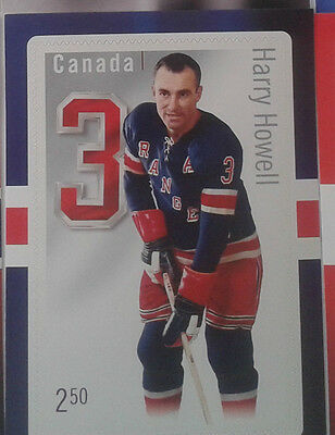Canada Post 2014 NHL Original 6 Harry Howell Stamp Card