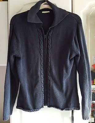 Ladies Cotton Cardigan ~ Navy Blue ~ Intown ~ Size XL ~ approx 16/18