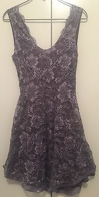 May the label grey lace dress size 8