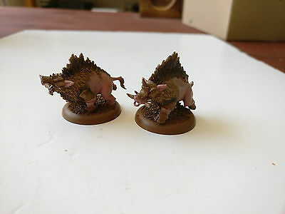 *Basecoated* Hordes Minions 2 Razor Boars Lesser Warbeasts