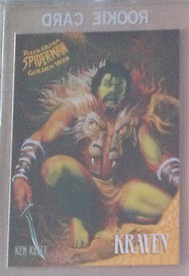 Spider Man 1995 Fleer Ultra - GOLDEN WEB - CARD 4 OF 9 KRAVEN