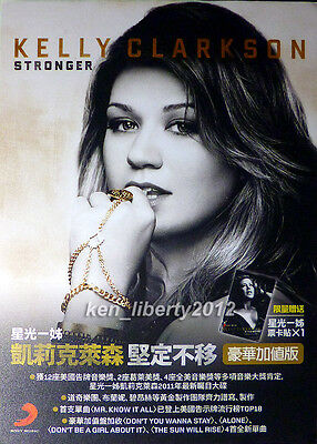 Taiwan official promo stand RARE! KELLY CLARKSON 2011 Stronger