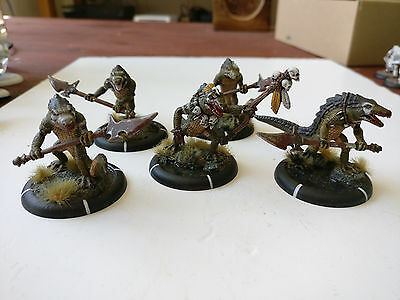 *Well Painted* Hordes Minions Classic  Gatorman Posse Unit