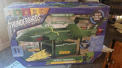 Thunderbirds Supersize Thunderbird 2 with Thunderbird 4 and 2 Action Figures