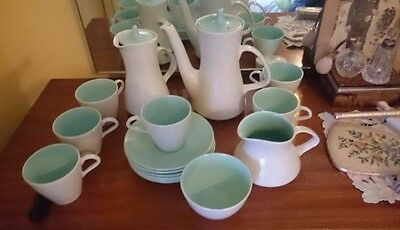 poole pottery twin tone ice green very collectable