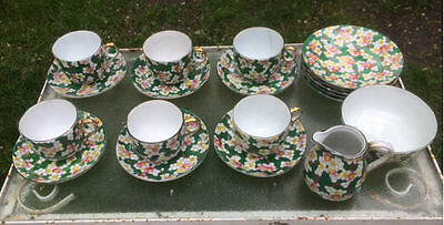 Vintage hand-painted Japanese Porcelain Tea Set from 1920s