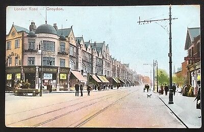 London Road Croydon Surrey Postcard