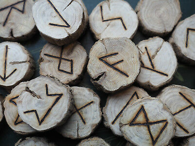 Gorse Elder Futhark Runes - with Bag & Information sheet - Pagan, Wicca,  Norse