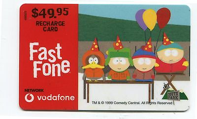 Vodafone  South Park   used recharge card  2000