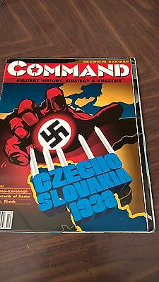 Command Magazine Issue 24 Czecho Slovankia 1938 Game Unpunched