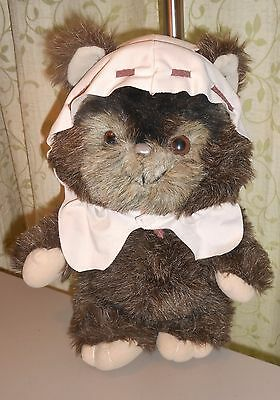 "1984 Paploo The Ewok 15"" Plush w/Hood Star Wars Return of the Jedi Kenner Nice"