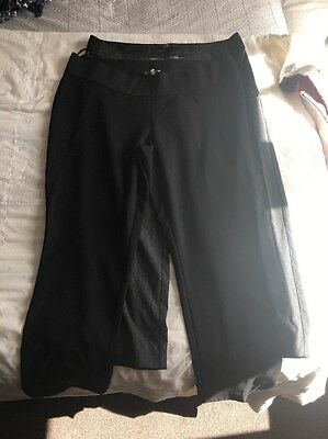 Black And Pin Stripe Maternity Trousers Size 16