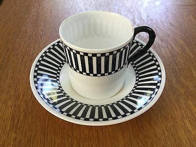 Antique Royal Worcester China Demitasse Cup & Saucer c1912 Art Deco Design