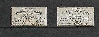 U.S. Civil War Bond Interest Certificates