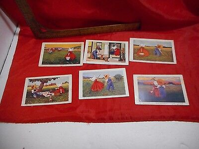 6 1906 hours of the day  Postcards Artist Signed Wall farmers
