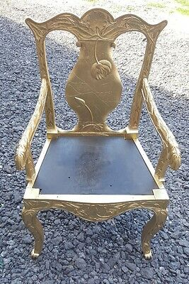 Gold carved throne chair