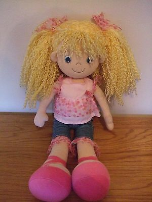 AURORA Soft Rag Doll. Blond Hair.19""