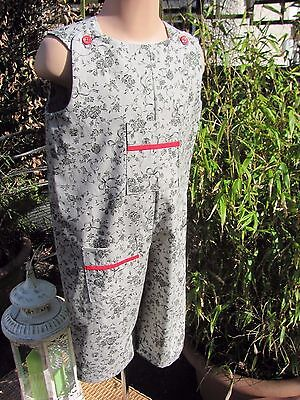 Girls Dungarees, Adjustable , Grey Floral, Age 18-24 months, New, Handmade