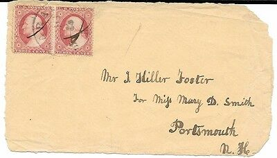 Cover front with 2 Early U.S. Stamps