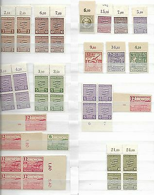 Collection of Mint German Sachsen Province Stamps.