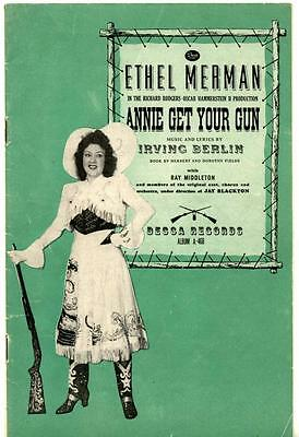 1946 DECCA Records ANNIE GET YOUR GUN Brochure 78 RPM Album ETHEL MERMAN