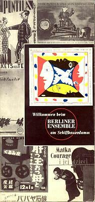 1955-1956 BERLINER ENSEMBLE Season Brochure in English -- Lotsa Pix