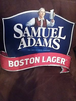 SAM SAMUEL ADAMS Metal Tin Beer Sign Boston Lager NEW 16in.