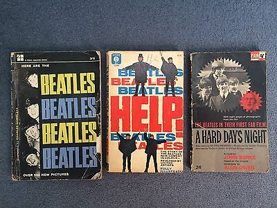 THE BEATLES - A Collection of x3 Vintage Paperbacks