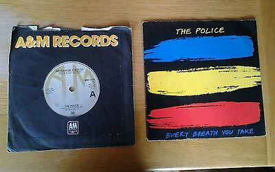 """The Police Message In A Bottle & Every Breath You Take A&m Recs  Uk 7""""  Singles"""