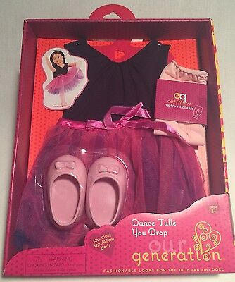 """Our Generation 18"""" Doll Dance Tulle You Drop Ballerina Outfit New In Box! Toys"""