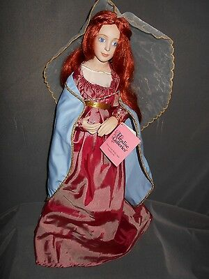 """Paradise Galleries 17"""" Porcelain/Cloth Doll, Unknown Name, AEL #126 on neck"""