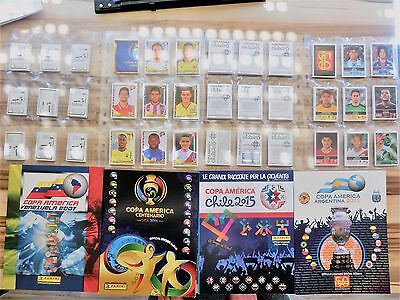 4 x PANINI COPA AMERICA 2007 * 2011 * 2015 * 2016 COMPLETE SETS * EMPTY ALBUMS