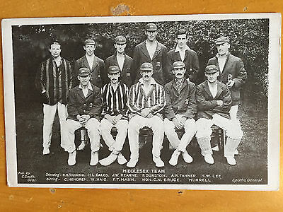 1921 Middlesex CCC Team Photograph Postcard by Sport & general unposted vgc