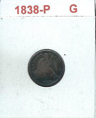 "1838-P - LIBERTY SEATED DIME - ""Good"" - Combined Shipping"