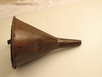 "Large 13"" 9"" D Solid Copper Funnel Moonshine Prohibition Rolled Edge Whiskey"