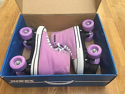 Boxed Roces Chuck Lilac Classic Roller Skates Size 4