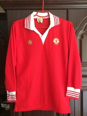 Manchester United England Fa Cup Winners 1977 Home Football Shirt Jersey Admiral