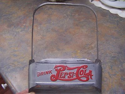 Drink Pepsi-Cola Vintage Original Six Pack Metal Bottle Carrier Soda Caddie