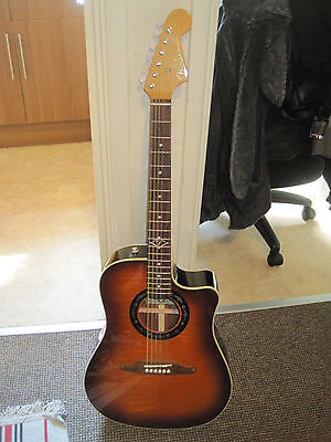 Fender Sonoran Californian Series SCE Dreadnought Electro Acoustic - Flame Burst